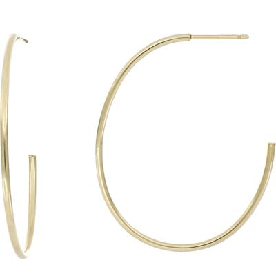 Bony Levy 14K Gold Thin Oval Hoop Earrings (Nordstrom Exclusive)