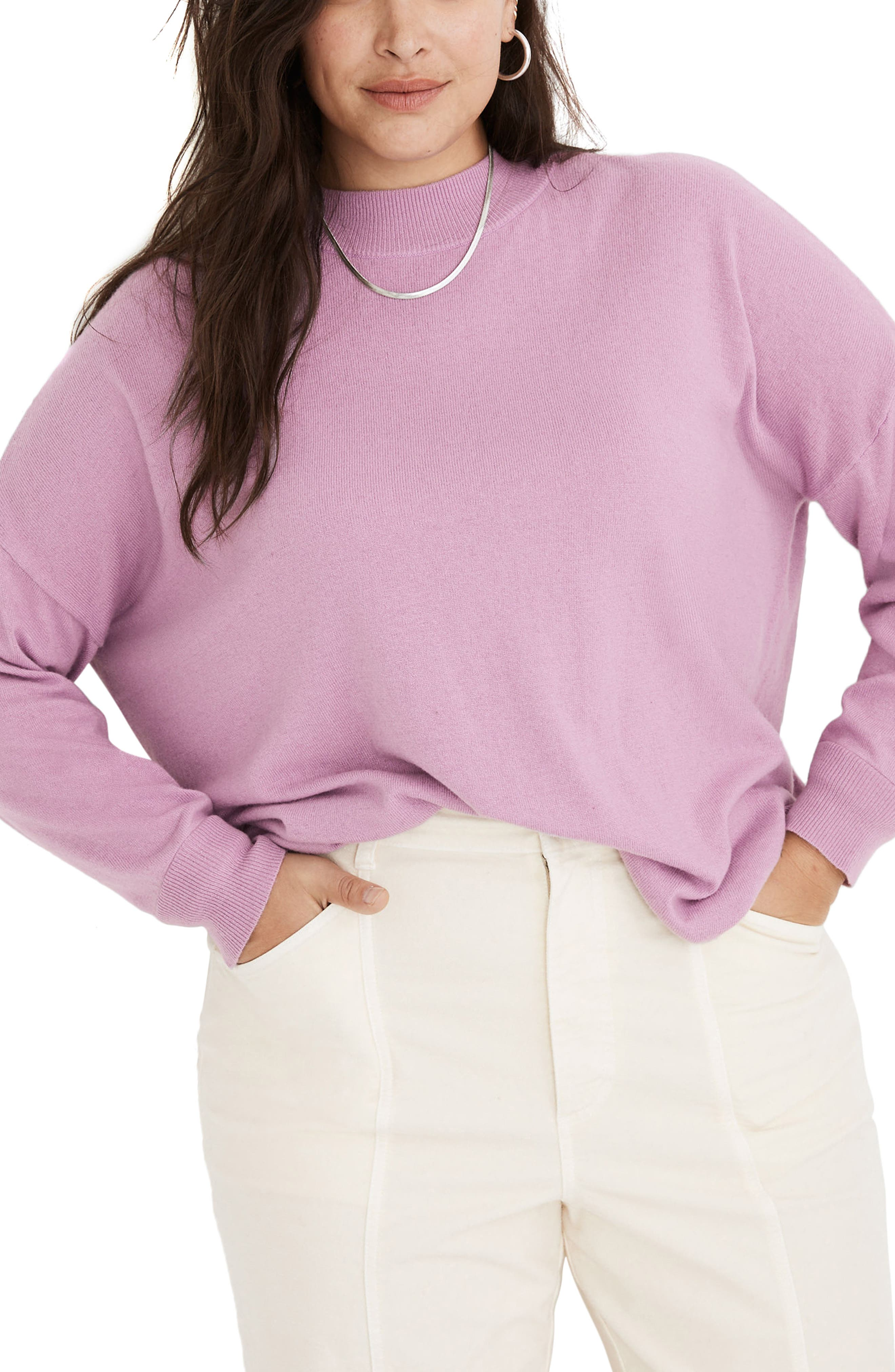 Image of Madewell Ashbury Mock Neck Sweater