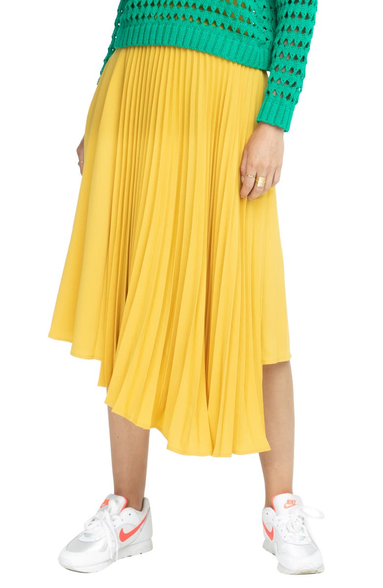 ASTR THE LABEL Elliot Skirt, Main, color, MUSTARD