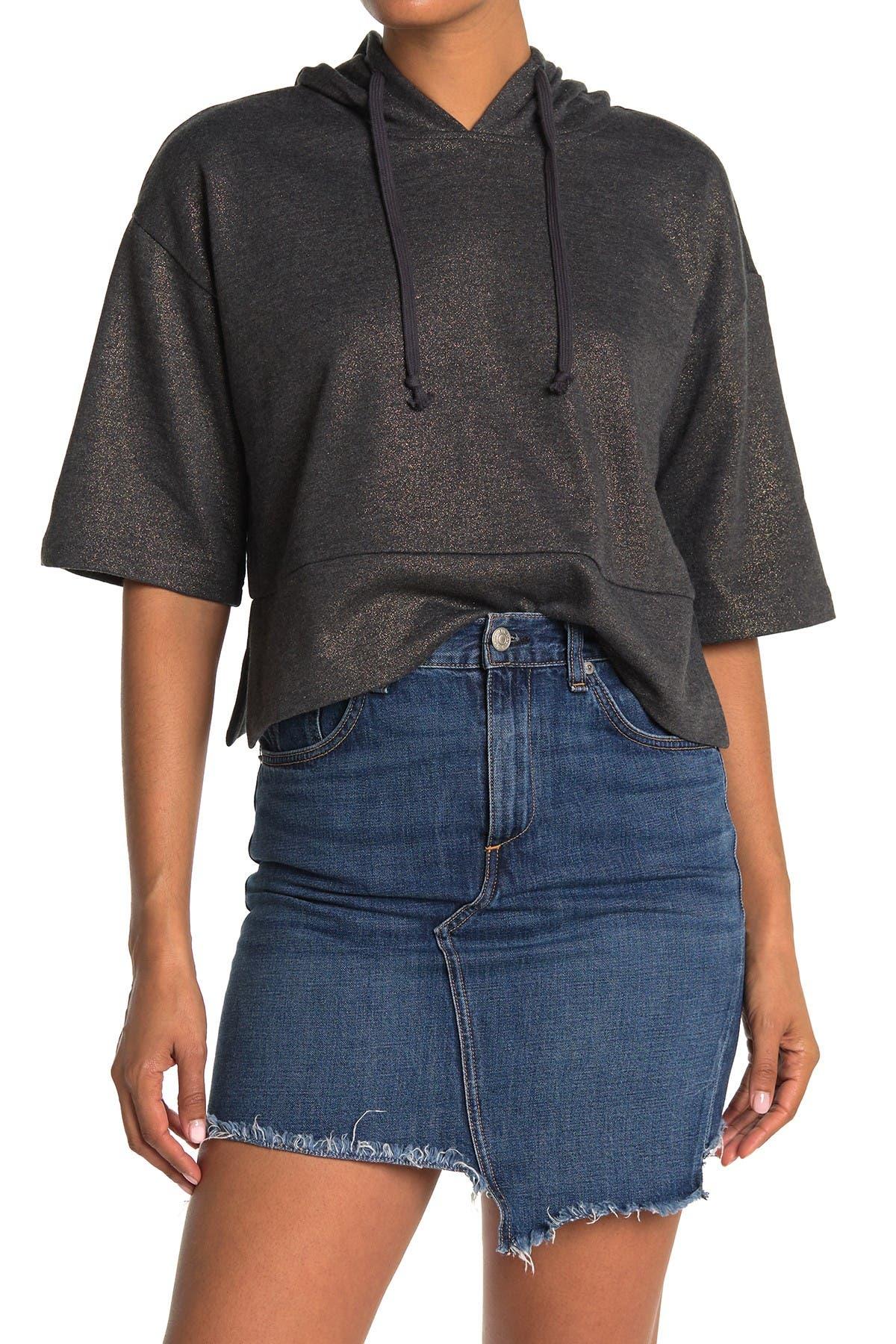 Image of BB Dakota Hood You Please Crop Sweatshirt