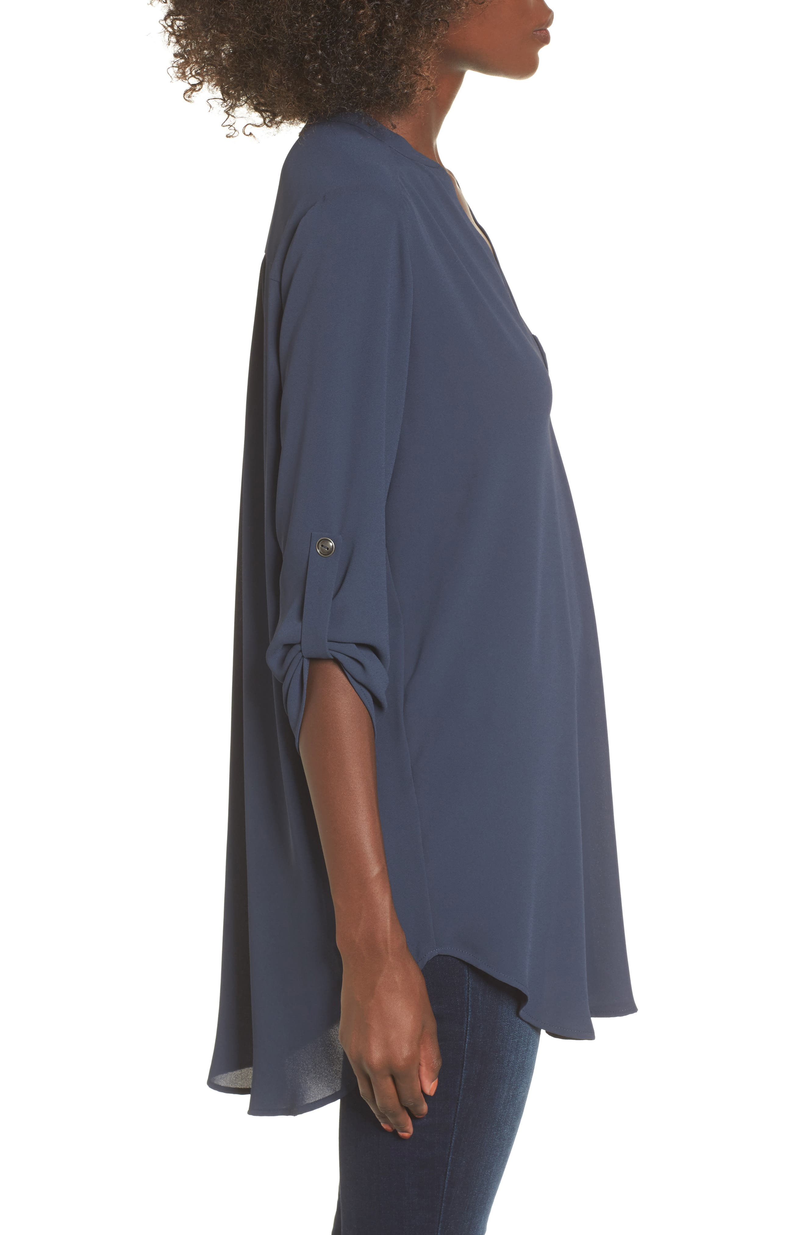 ,                             Perfect Roll Tab Sleeve Tunic,                             Alternate thumbnail 88, color,                             421
