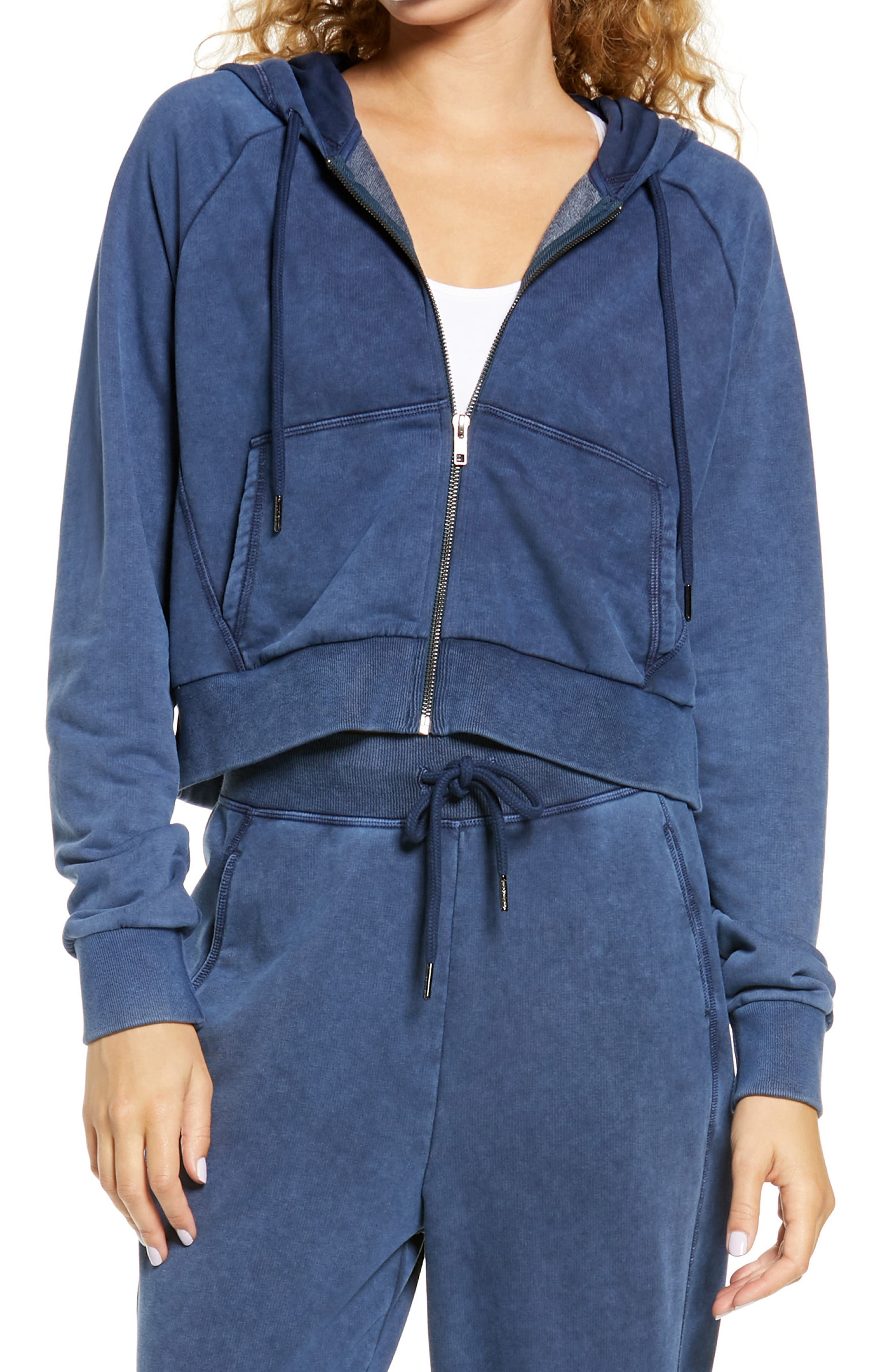 Flow from eagle pose to Savasana to lounging on the couch in this comfy hoodie made from supersoft cotton French terry. Style Name: Sweaty Betty Gary Zip Front Hoodie. Style Number: 6060691. Available in stores.