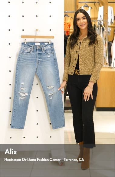Le Original Ripped High Waist Ankle Skinny Jeans, sales video thumbnail
