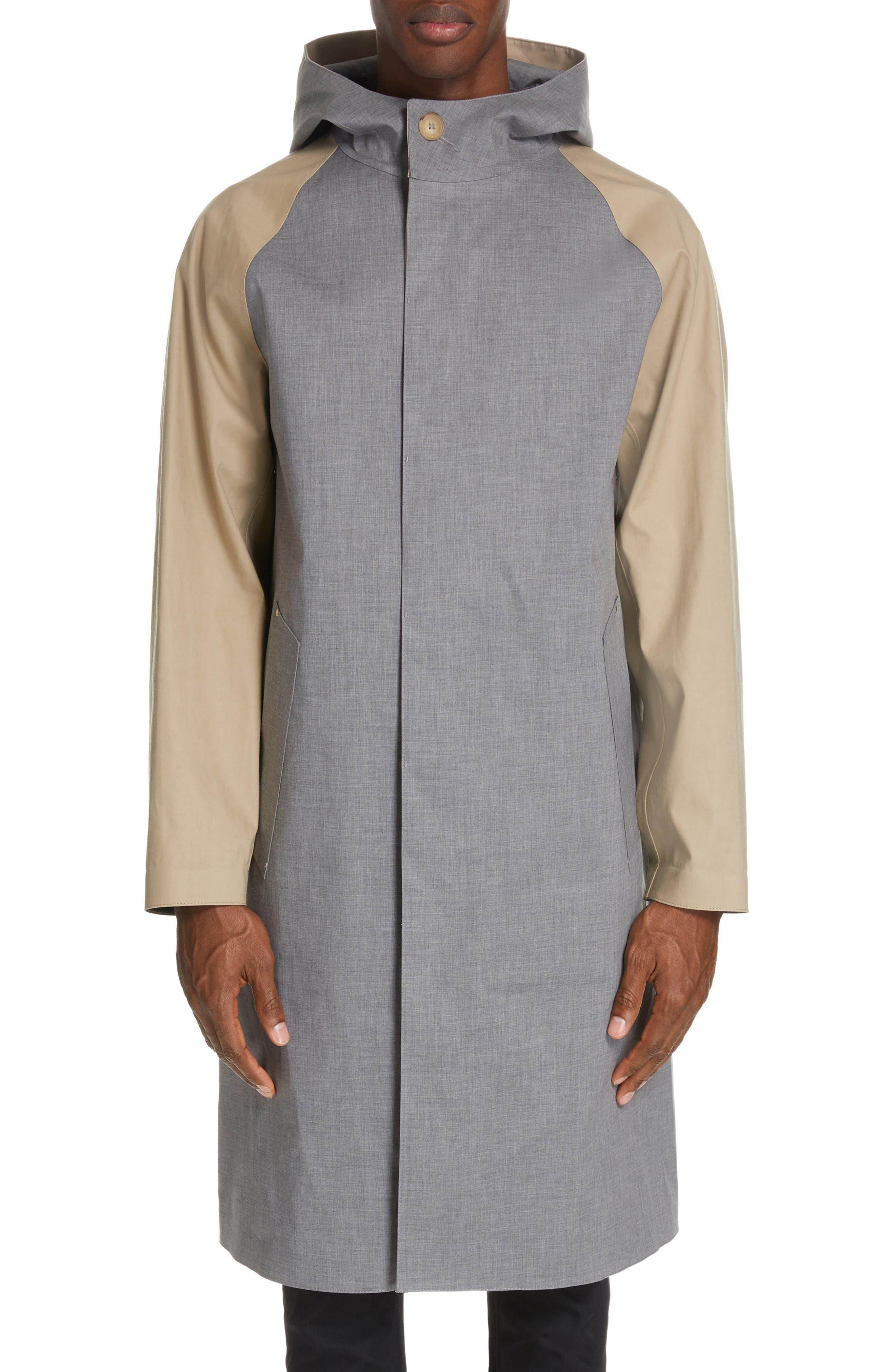 ,                             Bonded Cotton Hooded Jacket,                             Alternate thumbnail 2, color,                             LIGHT TOP GREY/ INK