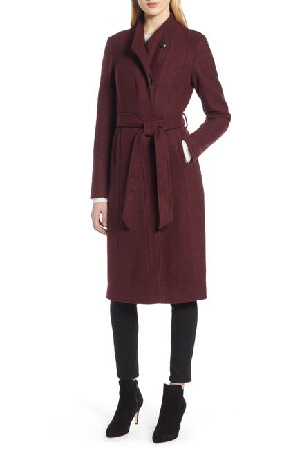 Image of Cole Haan Woven Button Front Coat
