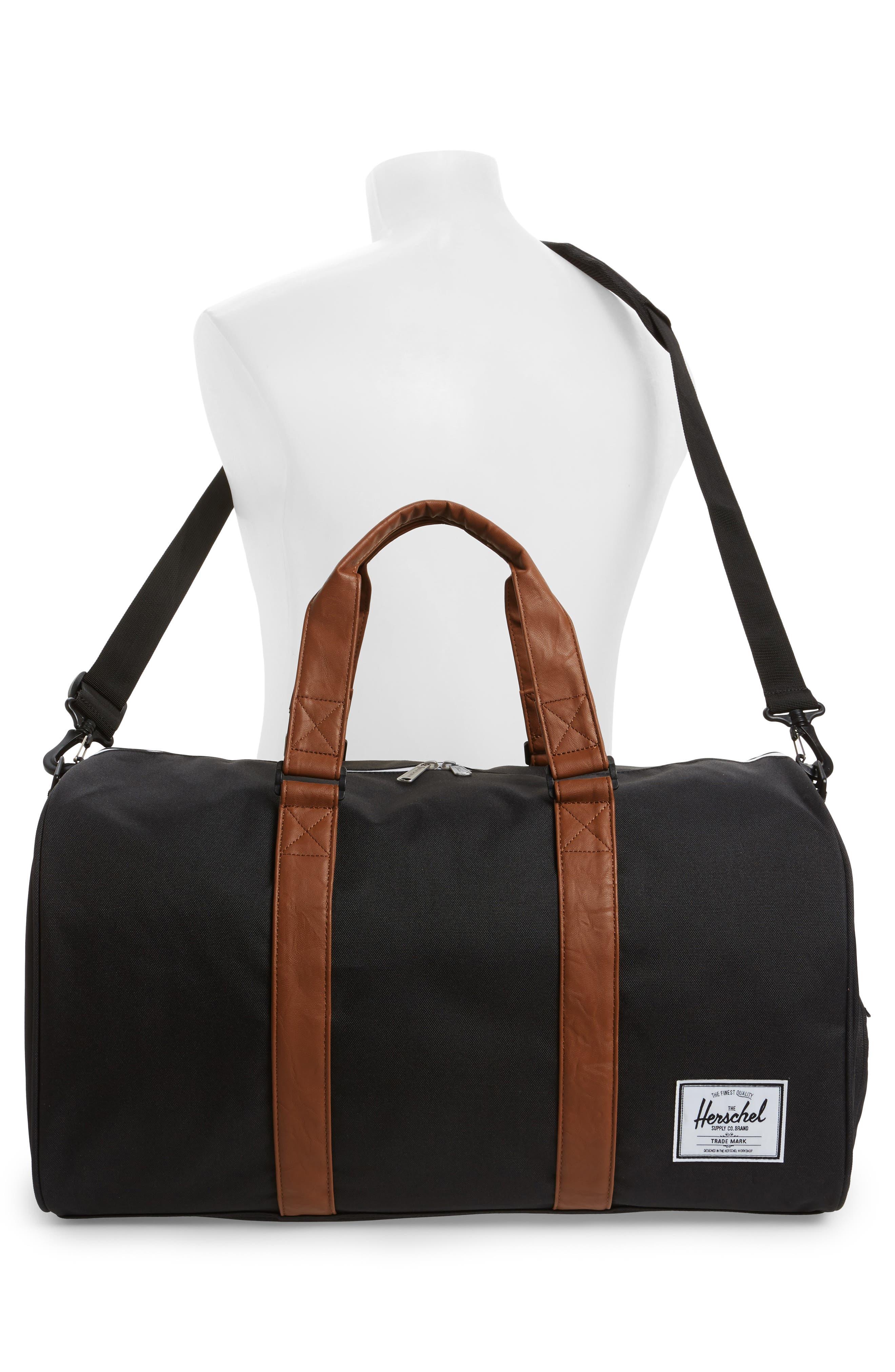 ,                             Novel Duffle Bag,                             Alternate thumbnail 4, color,                             BLACK/ TAN