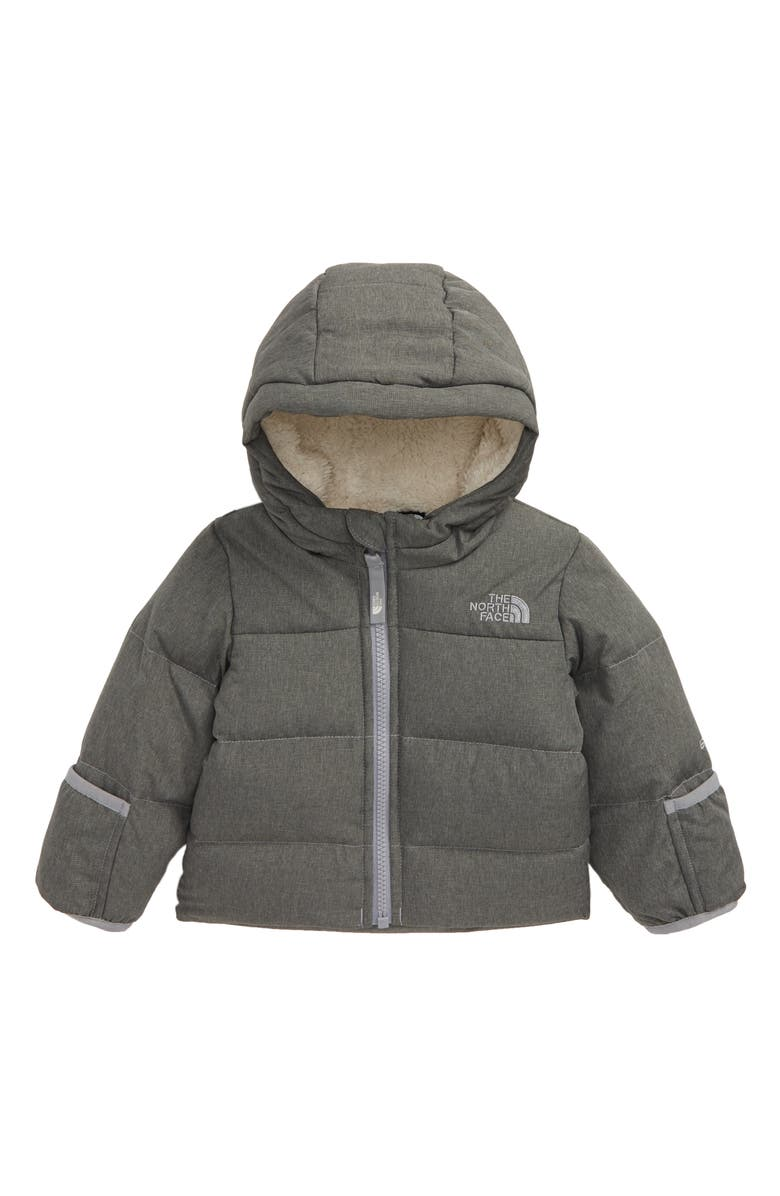 THE NORTH FACE Moondoggy Water Repellent 550 Fill Power Down Jacket, Main, color, TNF MEDIUM GREY HEATHER