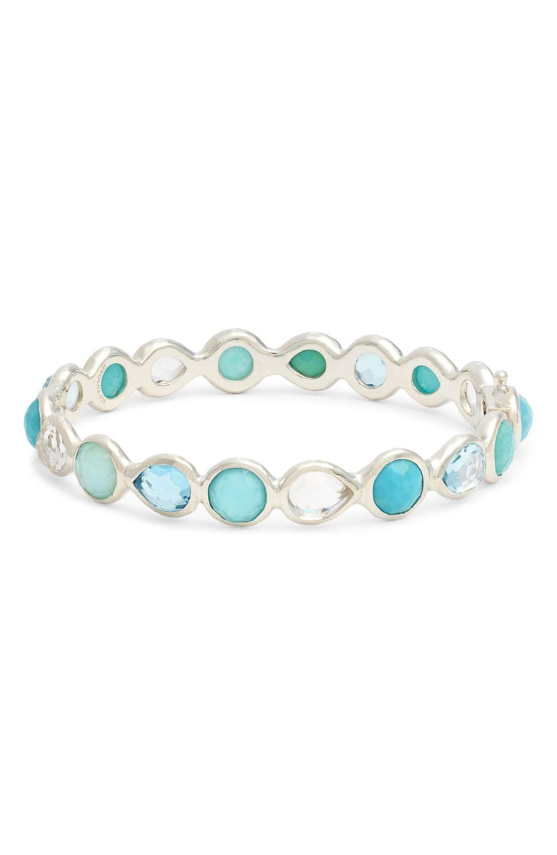 IPPOLITA Rock Candy Hinge Bracelet, Main, color, WATERFALL