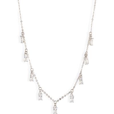 Nordstrom Cubic Zirconia Baguette Shaker Necklace