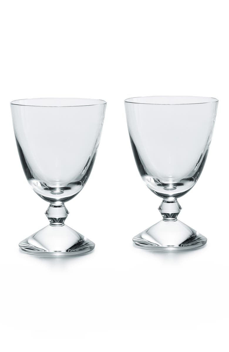 BACCARAT Véga Set of 2 Lead Crystal Water Glasses, Main, color, CLEAR