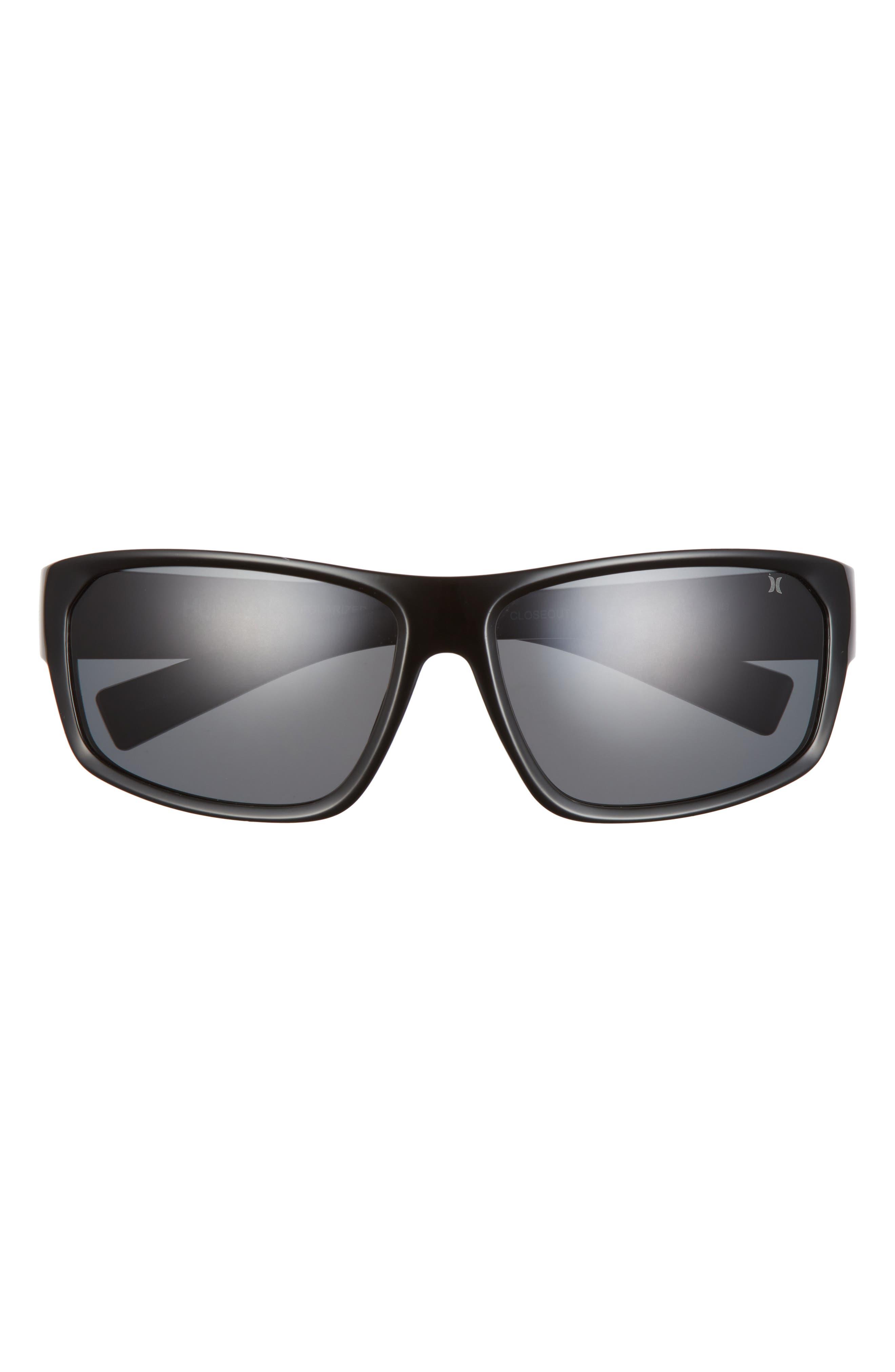 Closeout 64mm Polarized Oversize Wrap Sunglasses
