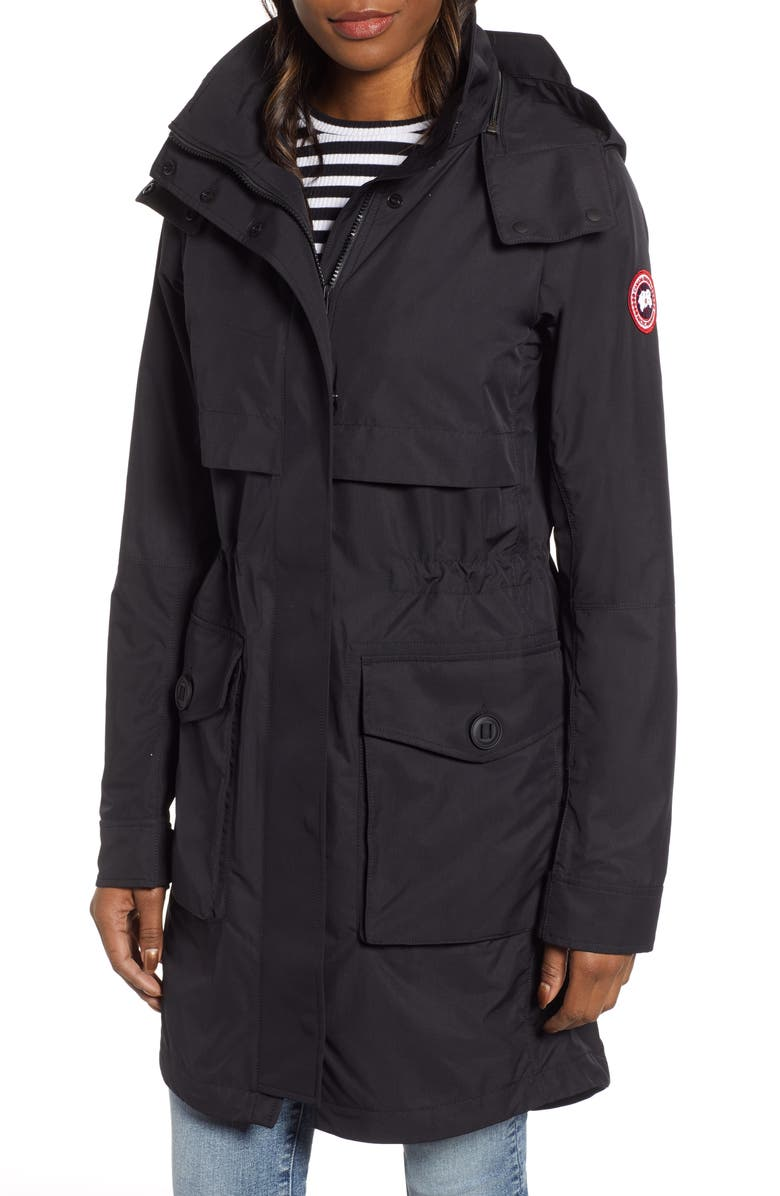 CANADA GOOSE Calvary Trench Coat, Main, color, BLACK
