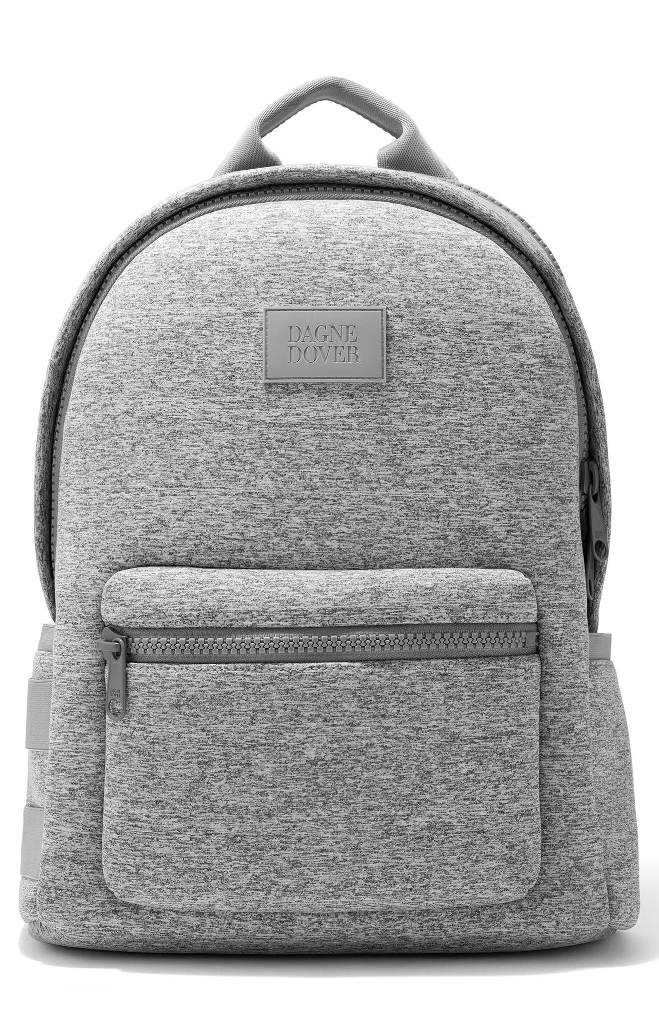 Large Dakota Neoprene Backpack, Main, color, HEATHER GREY