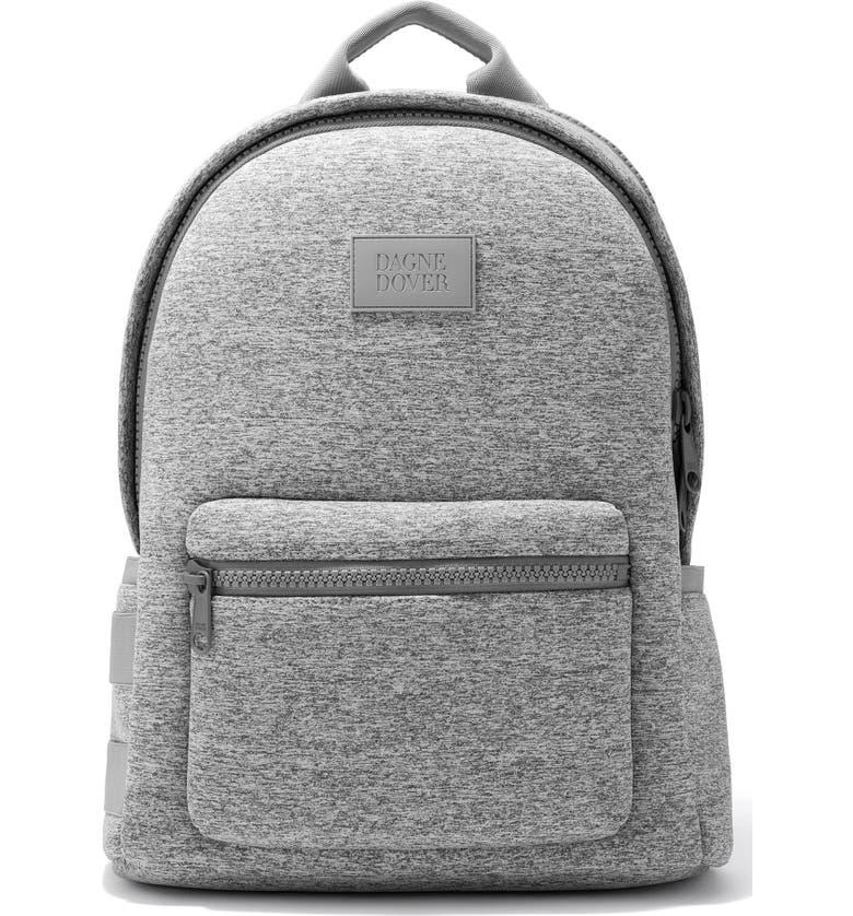 DAGNE DOVER Large Dakota Backpack, Main, color, HEATHER GREY