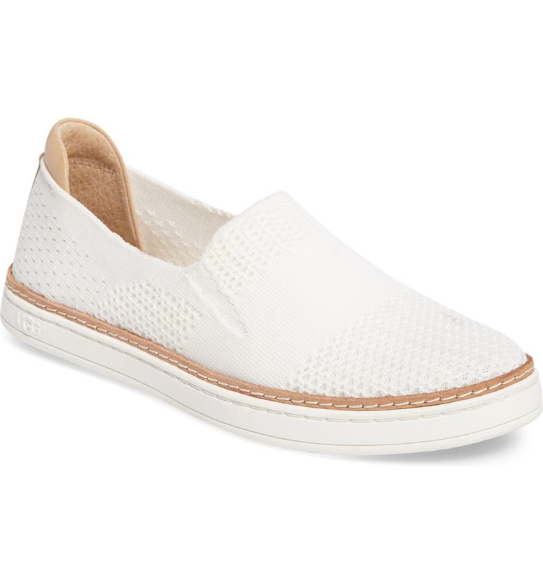 UGG<SUP>®</SUP> Sammy Sneaker, Main, color, WHITE FABRIC