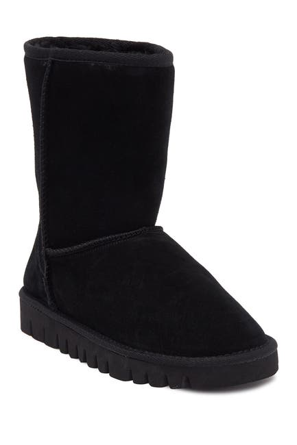 Image of NEST FOOTWEAR 8-Inch Faux Fur Pull Up Boots