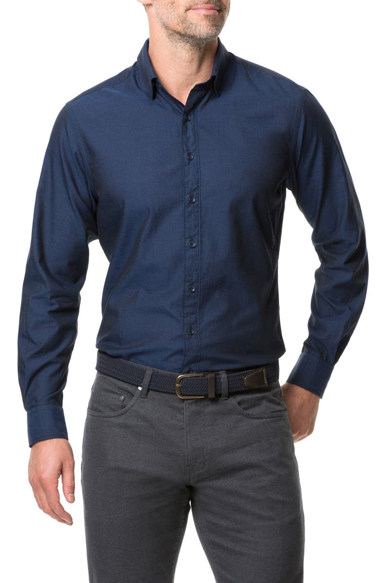 RODD & GUNN Glenpark Regular Fit Button-Down Shirt, Main, color, MIDNIGHT