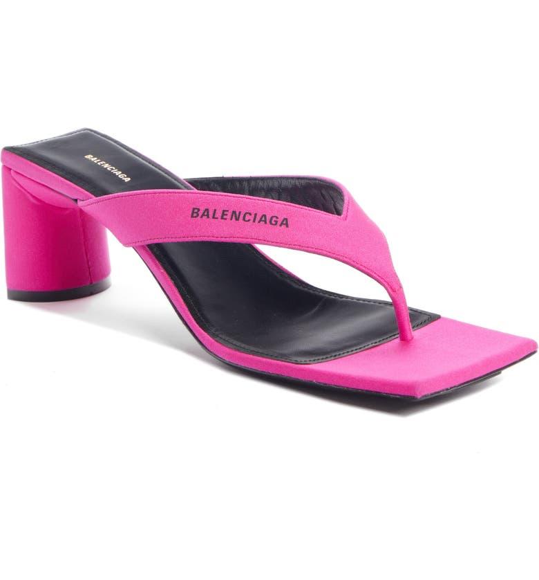 BALENCIAGA Square Toe Sandal, Main, color, LIPSTICK PINK