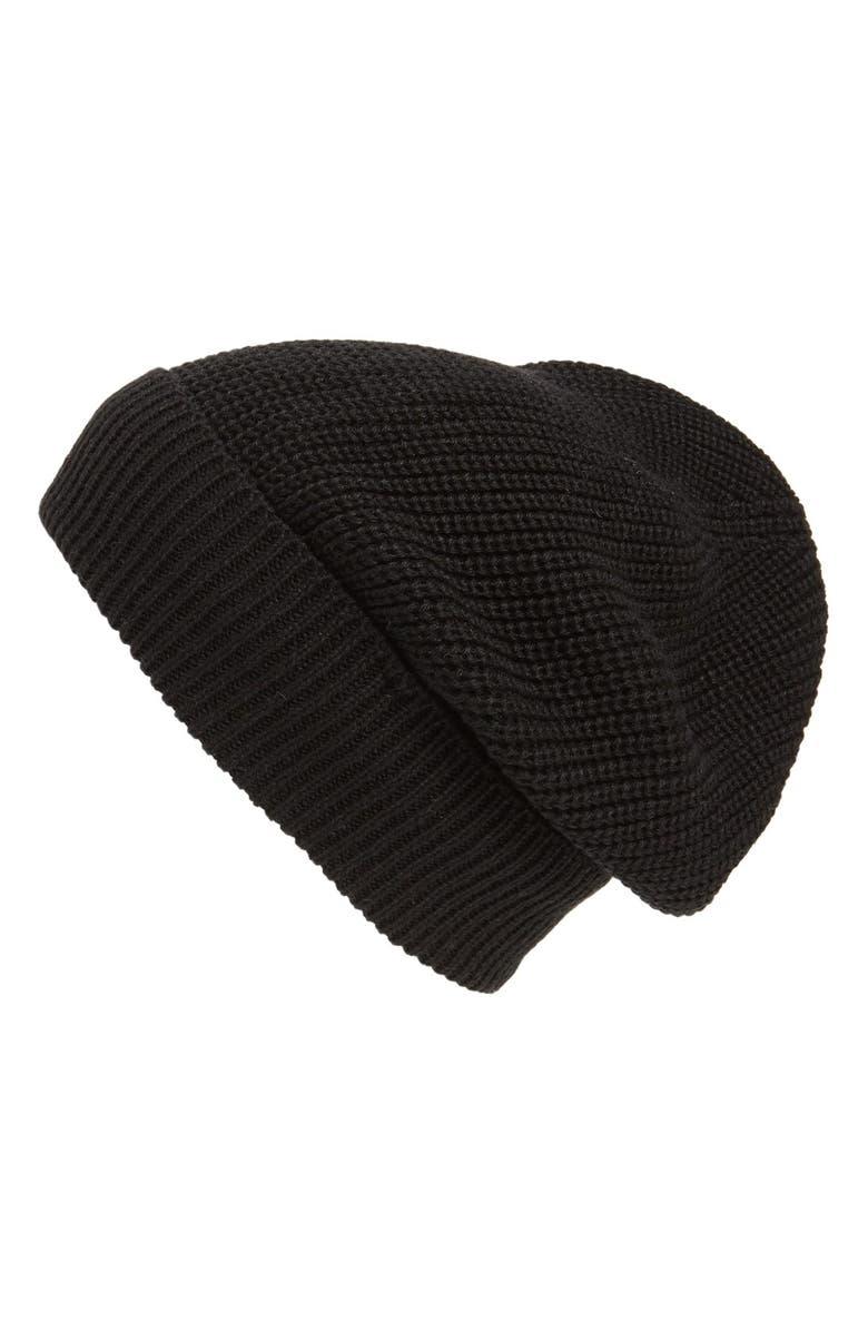 PHASE 3 'Stand Up' Basket Knit SlouchyBeanie, Main, color, 001