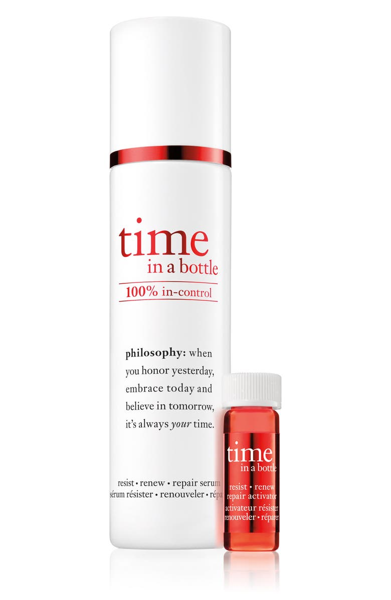 PHILOSOPHY time in a bottle face serum, Main, color, NO COLOR
