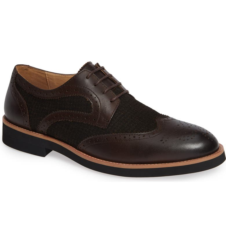 ENGLISH LAUNDRY Bolton Wingtip, Main, color, BROWN