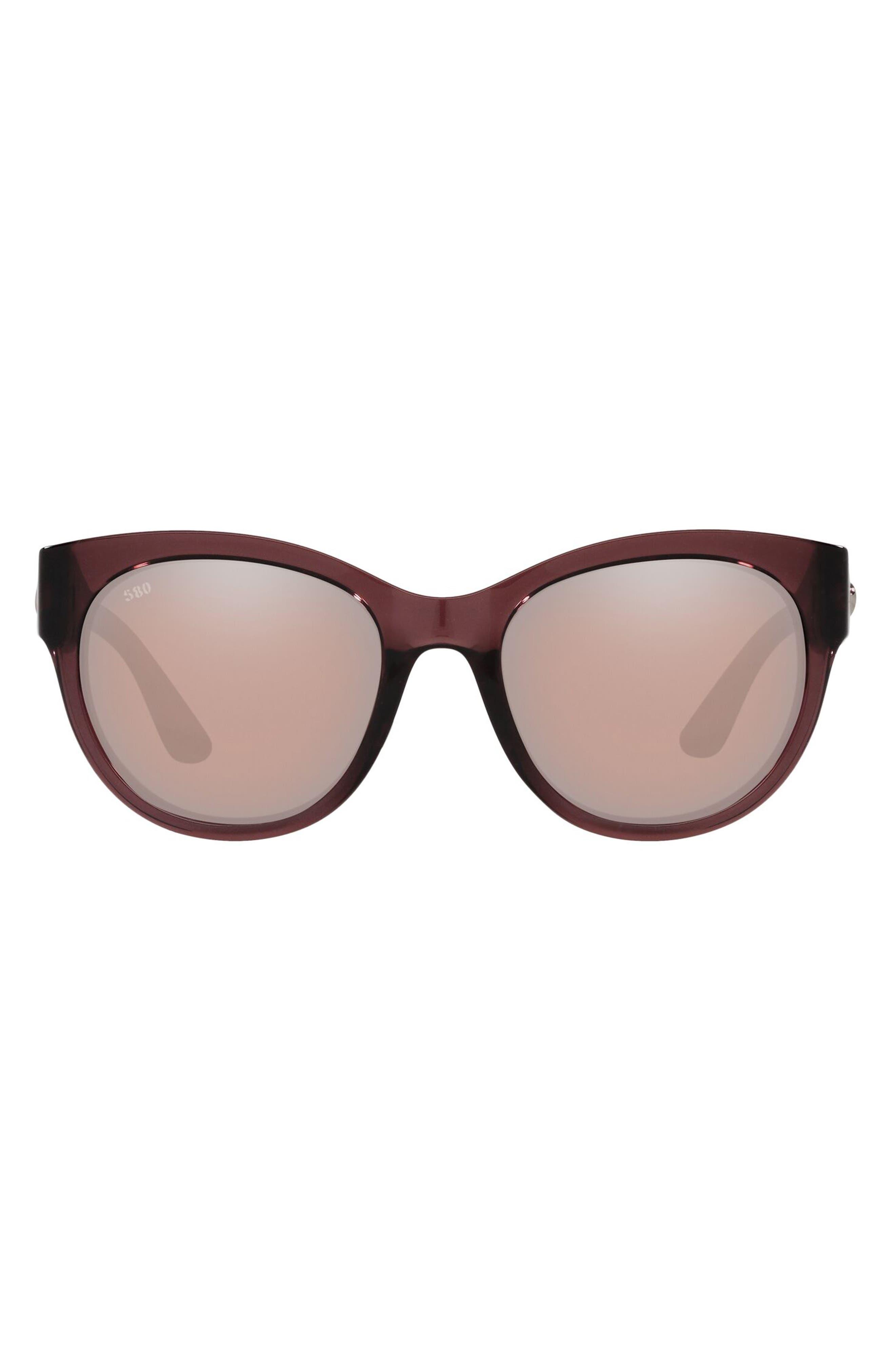 Women's Coasta Del Mar Maya 55mm Polarized Cat Eye Sunglasses