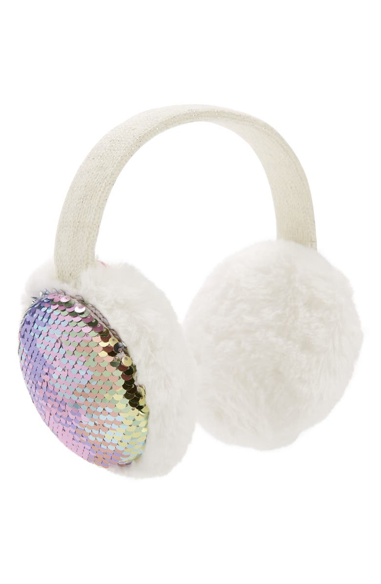 CAPELLI NEW YORK Reversible Sequin Earmuffs, Main, color, 650
