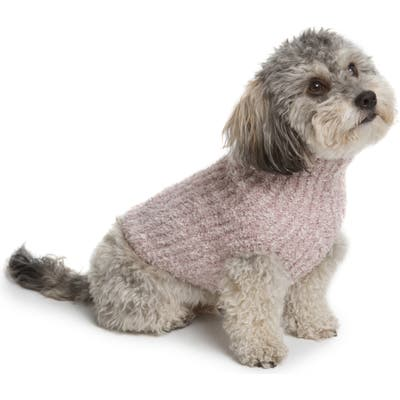 Barefoot Dreams Cozychic(TM) Ribbed Dog Sweater, Pink