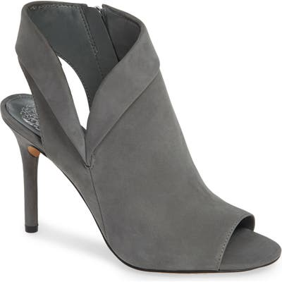 Vince Camuto Cholia Asymmetrical Sandal Bootie, Grey