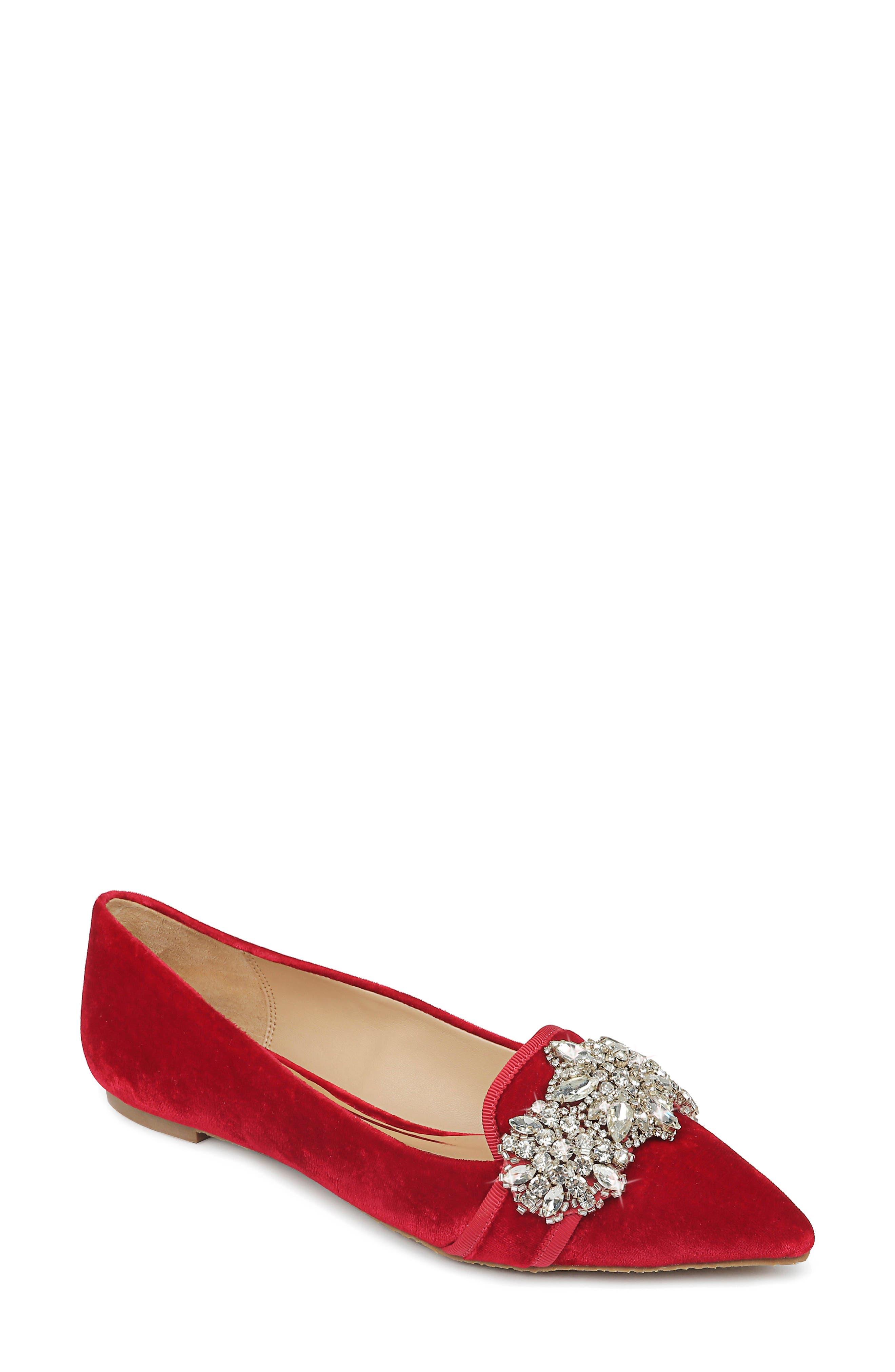 Badgley Mischka Echo Embellished Loafer Flat (Women)