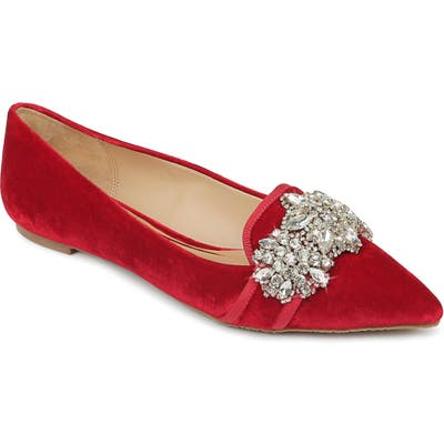 Badgley Mischka Echo Embellished Loafer Flat
