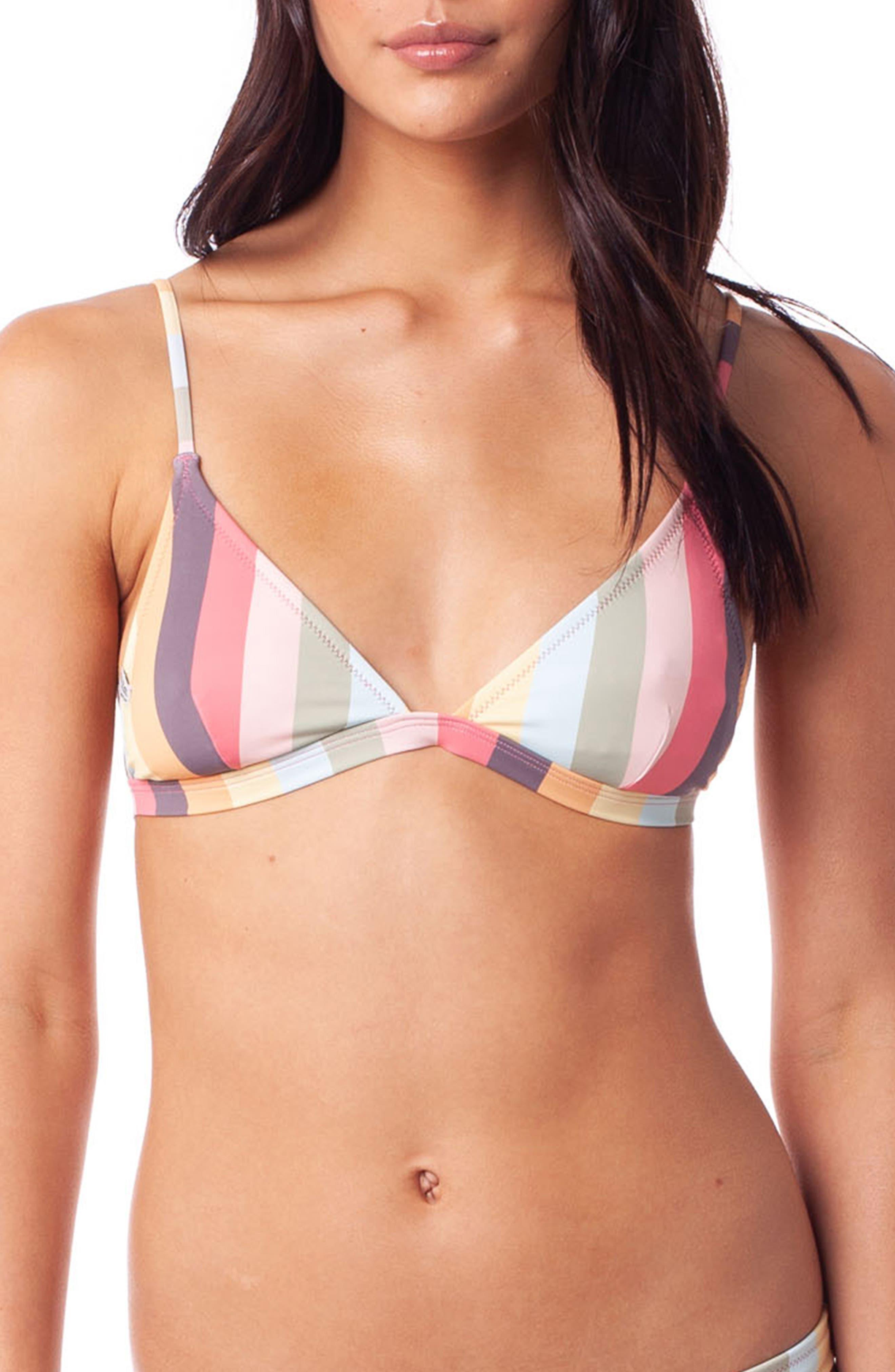 Rhythm Sahara Triangle Bikini Top, Red