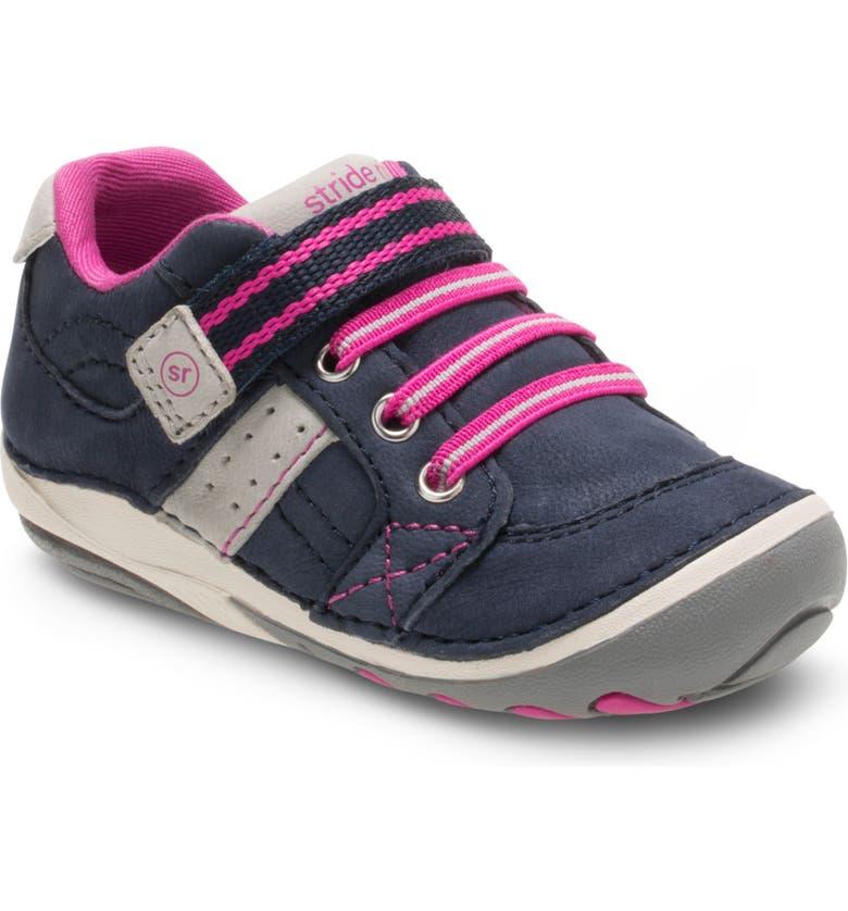 STRIDE RITE 'Artie' Sneaker, Main, color, NAVY/ PINK