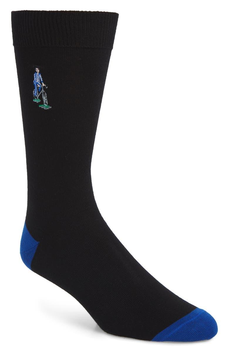 PAUL SMITH London Park Socks, Main, color, BLACK/ BLUE