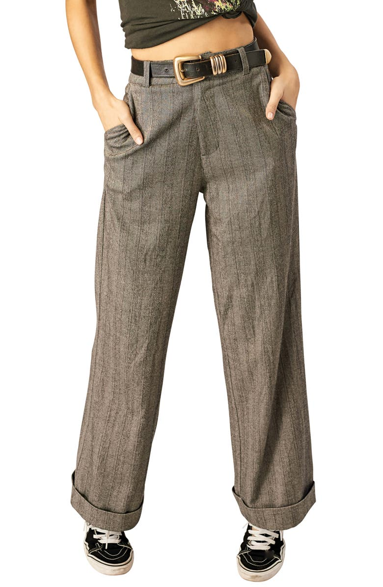 STONE ROW Suits Me Fine Herringbone Pants, Main, color, 001