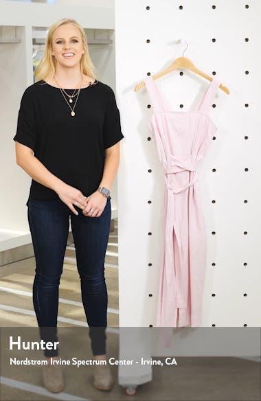 Wide Strap Belted Linen Blend Dress, sales video thumbnail