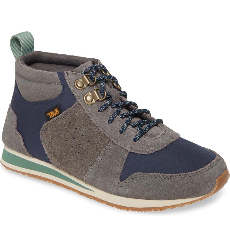 TEVA Highside 84 Mid Top Sneaker, Main, color, DARK GULL GREY LEATHER