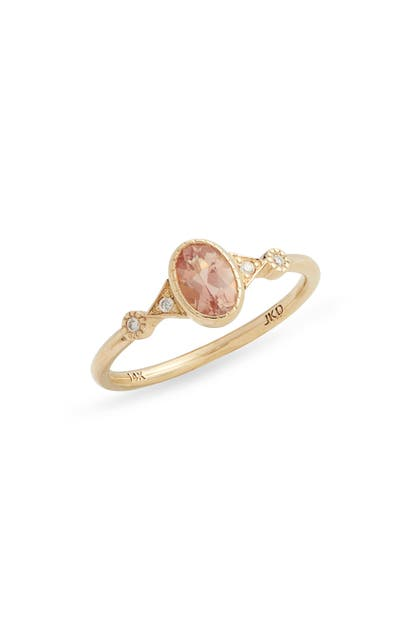 Jennie Kwon Designs Sunstone Duo Deco Ring In Yellow Gold