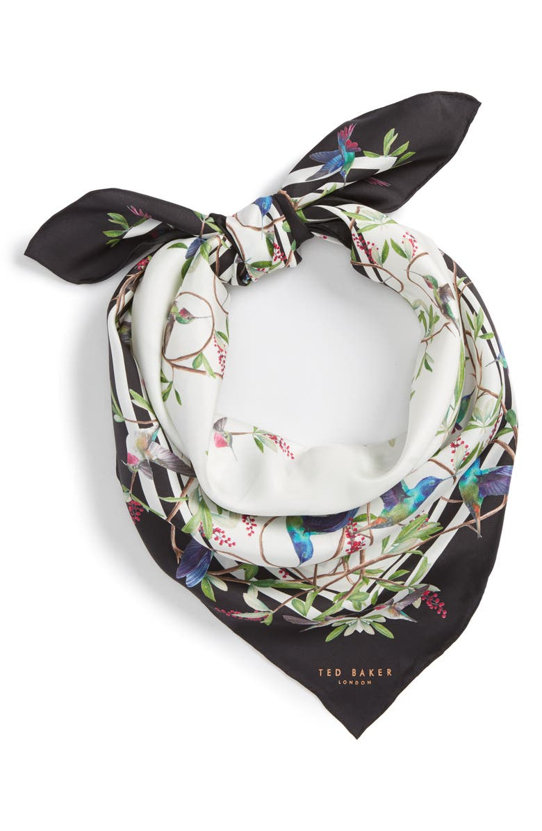 TED BAKER LONDON Highgrove Square Silk Scarf, Main, color, 110