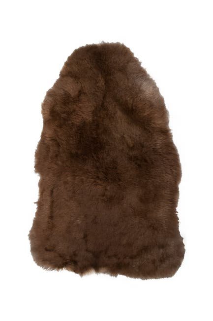 Image of Natural Icelandic Genuine Genuine Sheepskin Shearling Shearling Short-Haired Rug - 2ft x 3ft - Rusty Brisa