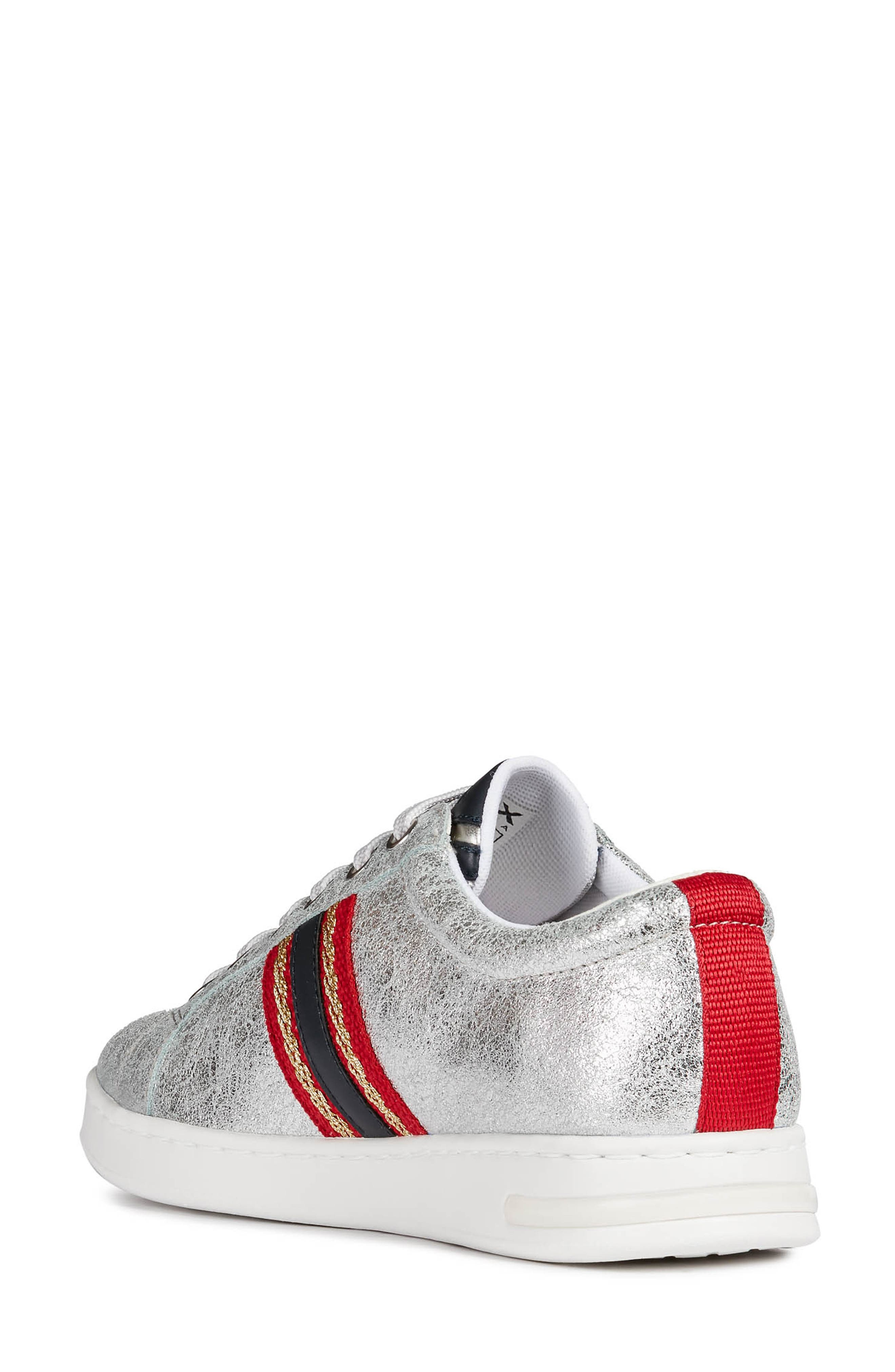 ,                             Jaysen Sneaker,                             Alternate thumbnail 2, color,                             SILVER/ NAVY LEATHER