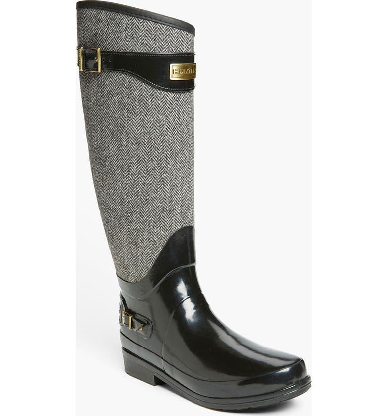 HUNTER 'Regent Apsley' Rain Boot, Main, color, 001