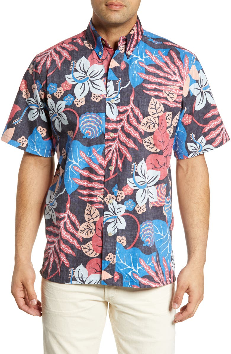 REYN SPOONER San Clemente Classic Fit Shirt, Main, color, 010