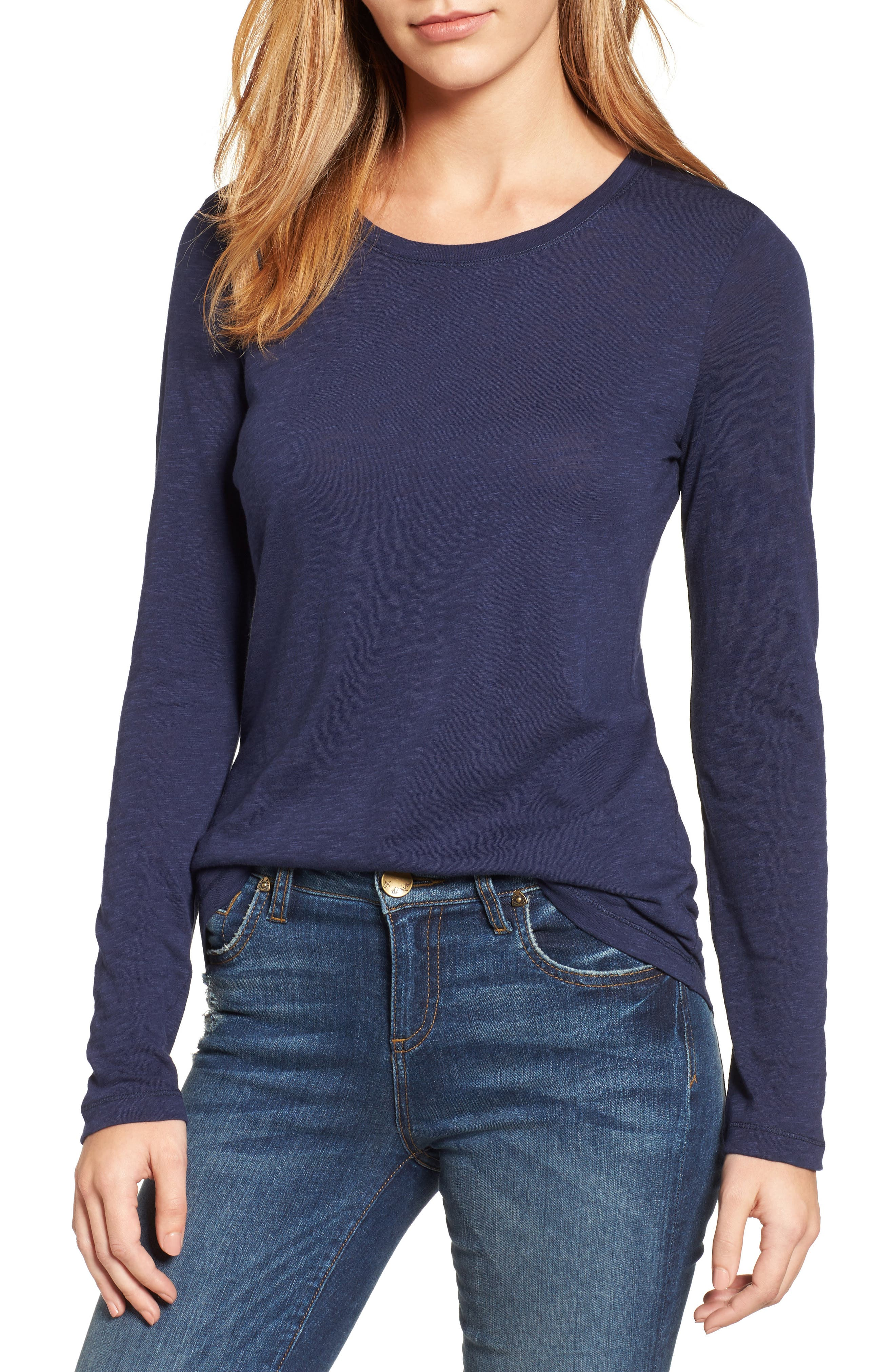 Women's Caslon Long Sleeve Crewneck T-Shirt