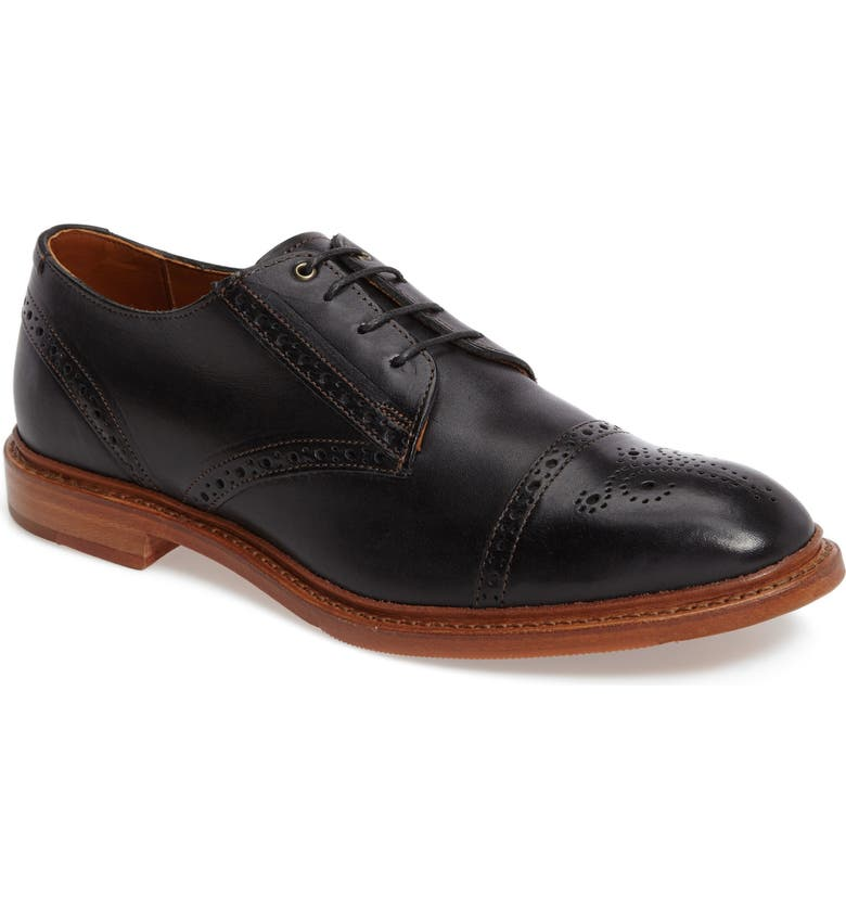 ALLEN EDMONDS 'Bainbridge' Cap Toe Derby, Main, color, 001