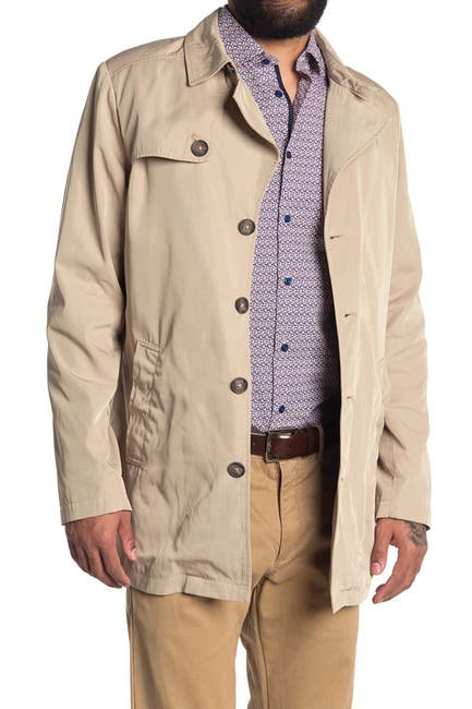 Image of SOUL OF LONDON Nylon Button Short Trench Jacket