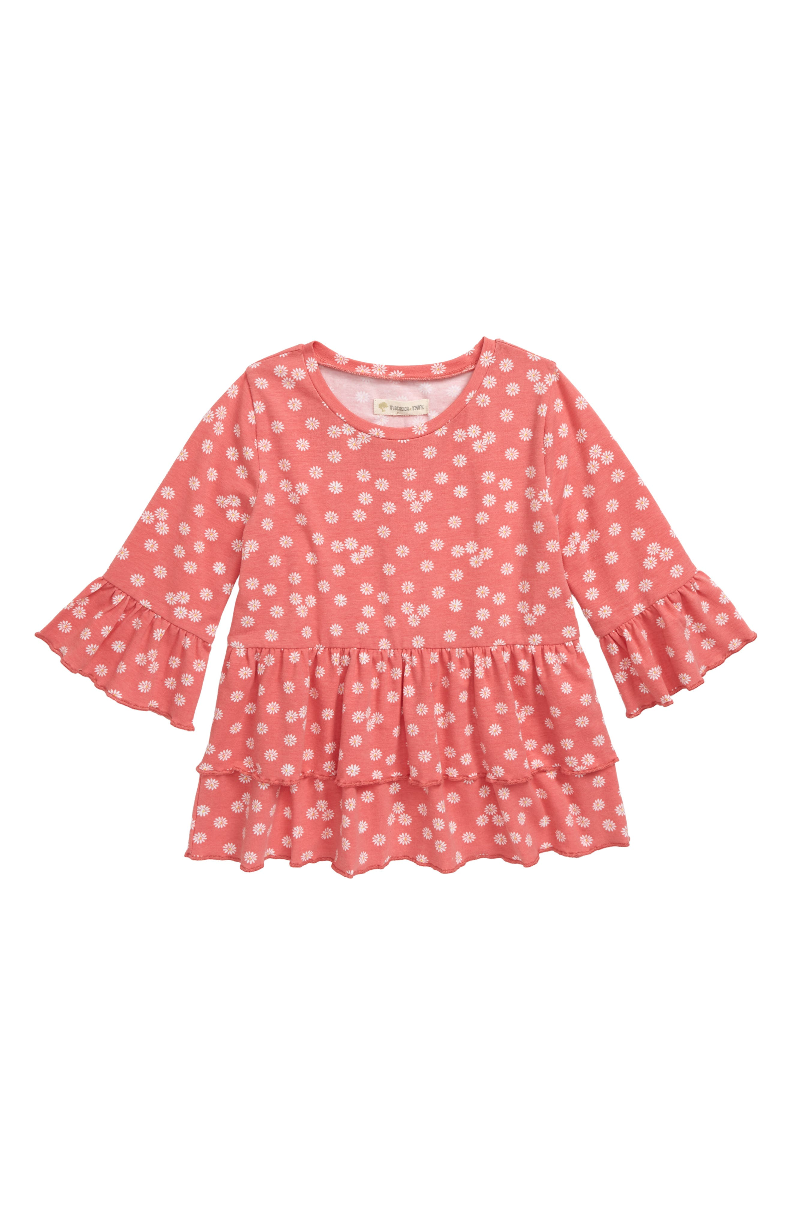 Girls Tucker  Tate Tiered Ruffle Top Size 7  Pink