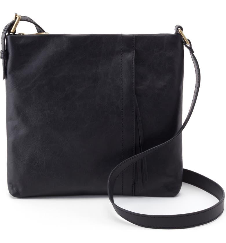 HOBO Leather Shoulder Bag, Main, color, 001
