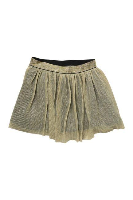 Image of BCBGirls Metallic Gold Skater Skirt