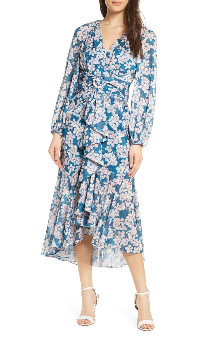 EVER NEW Floral Long Sleeve Dress, Main, color, DARK FLORAL